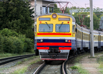 Old electric train is still in service