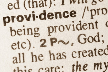 Dictionary definition of word providence