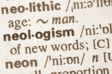 Dictionary definition of word neologism