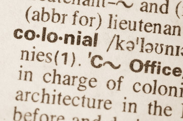Dictionary definition of word colonial
