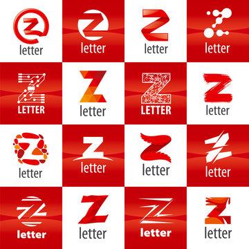large set of vector logo letter Z