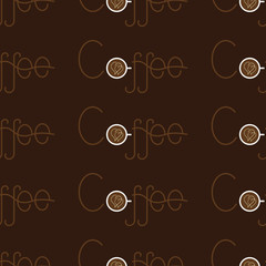 Pattern with coffee lettering