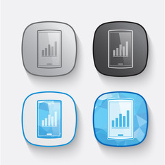 Set of mobile icon - vector icon design concept