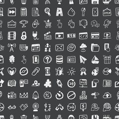 Doodle Web, seamless pattern background