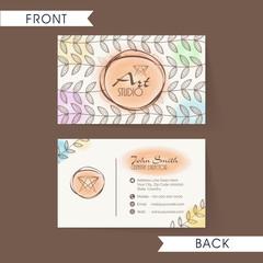 Stylish horizontal business card or visiting card set.