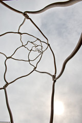Abstract Wire Sculpture in Barcelona, Spain