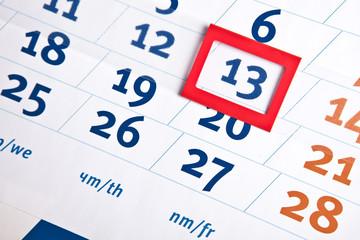 Calendar Friday 13