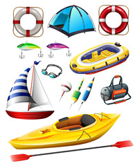 Fishing equipments and boats