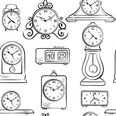 Background, wallpaper - clock in retro style
