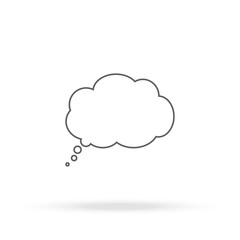 Cloud thoughts icon