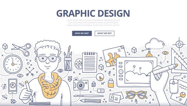 Graphic Design Doodle Concept