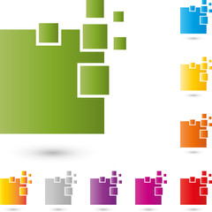 Dienstleistung, IT, EDV, Logo, Rechtecke