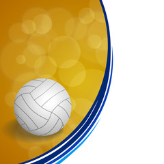 Background abstract sport volleyball blue yellow ball circle frame illustration vector