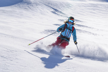 Aluminium Prints Winter sports Freeride at it's best