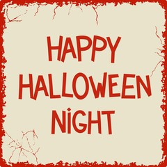 Happy Halloween Night retro lettering desigh. Vector eps 8
