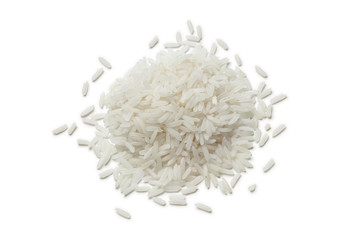 Heap of raw Jasmine rice