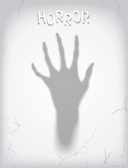 Silhouette of a terrible phantom hand. Vector eps 10