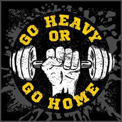Fitness bodybuilding vintage label for flayer poster logo t