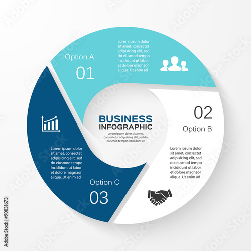 Vector Circle Arrows Infographic Diagram Graph Presentation