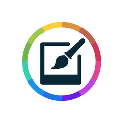 Modern Multicolored Icon
