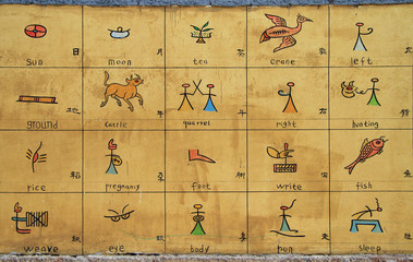 educational board with illustrated and translated in english