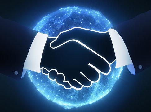 Handschlag Business Global