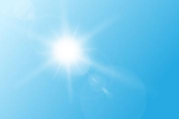 Blue spring sky