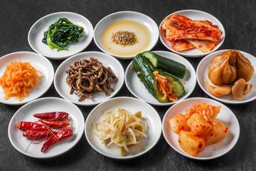 韓国の漬け物 集合Korean kimchi and representative pickle