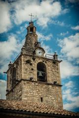 Le clocher du village du Peyruis