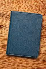 Dark blue notebook
