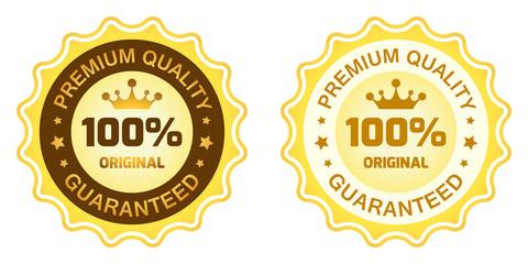 100 Premium Quality Label