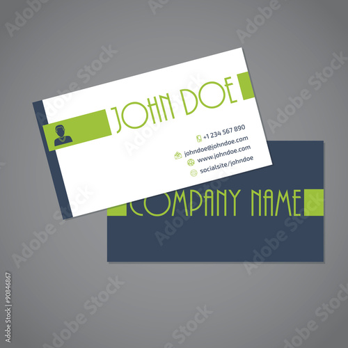 Simplistic Two Sided Business Card Stock Image And Royalty Free