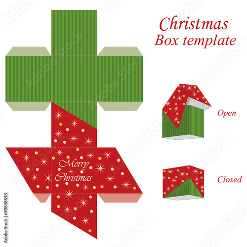 Free gift box templates christmas