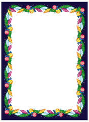 Frame with Christmas decoration