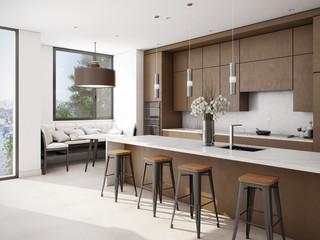White-Brown Kitchen