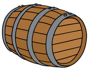 Wooden barrel / Hand drawing, vector illustration