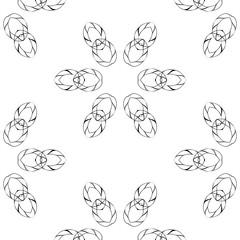 Primitive simple  grey retro seamless pattern