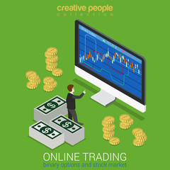 Stock exchange, binary option, online trading concept