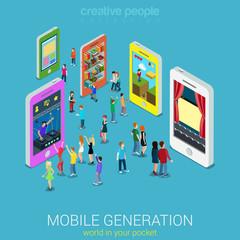 Mobile generation isometric concept