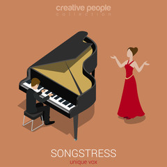 Songstress solo female singer piano accompaniment