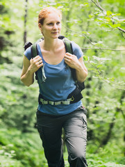 Active Woman Hiking