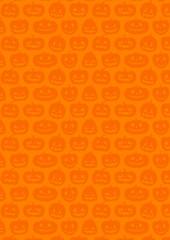 ハロウィン:かぼちゃの背景(オレンジ)縦
