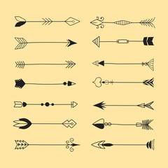 Tribal Arrows Line Art