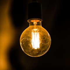 Luxury retro light lamp decor.