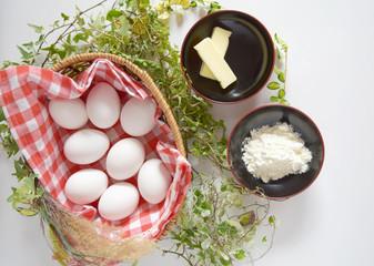 鶏卵とバターと小麦