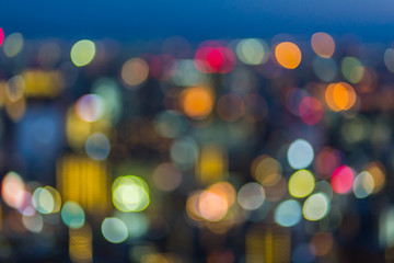 Abstract bokeh city light background