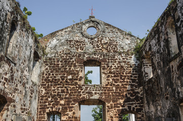 A Famosa Fort Ruins on St Paul Hill - A Famosa fort in Malacca, Malaysia..