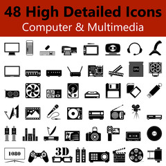 Computer and Multimedia Smooth Icons
