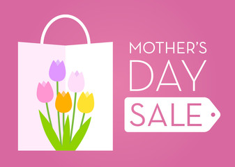 Happy Mother's Day sale vector promotion display poster
