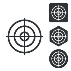 Aiming mark icon set, monochrome